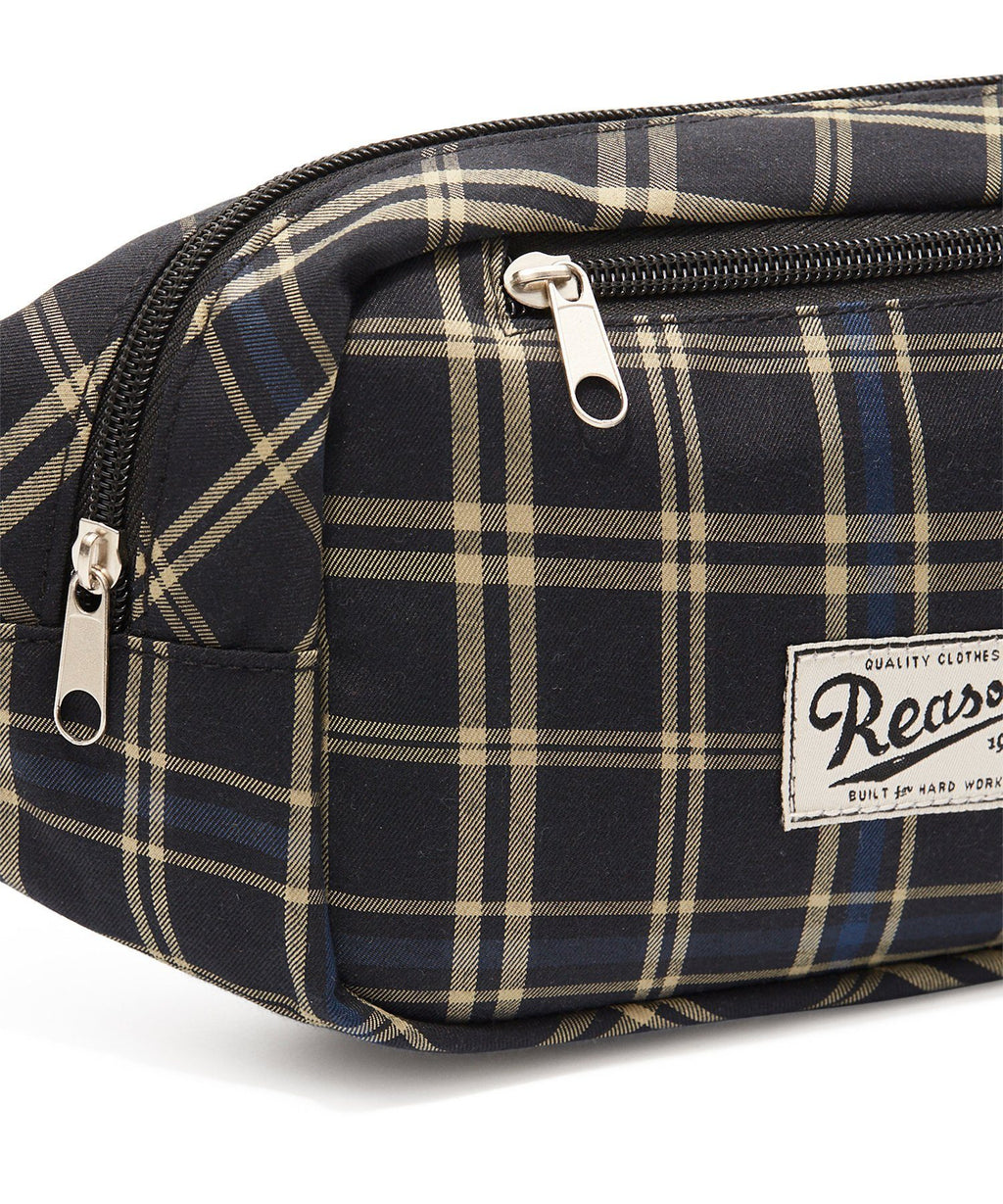 REASON CHECKER FANNY PACK - NAVY