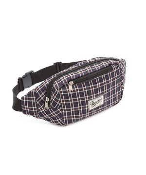 REASON CHECKER FANNY PACK - BLUE/RED