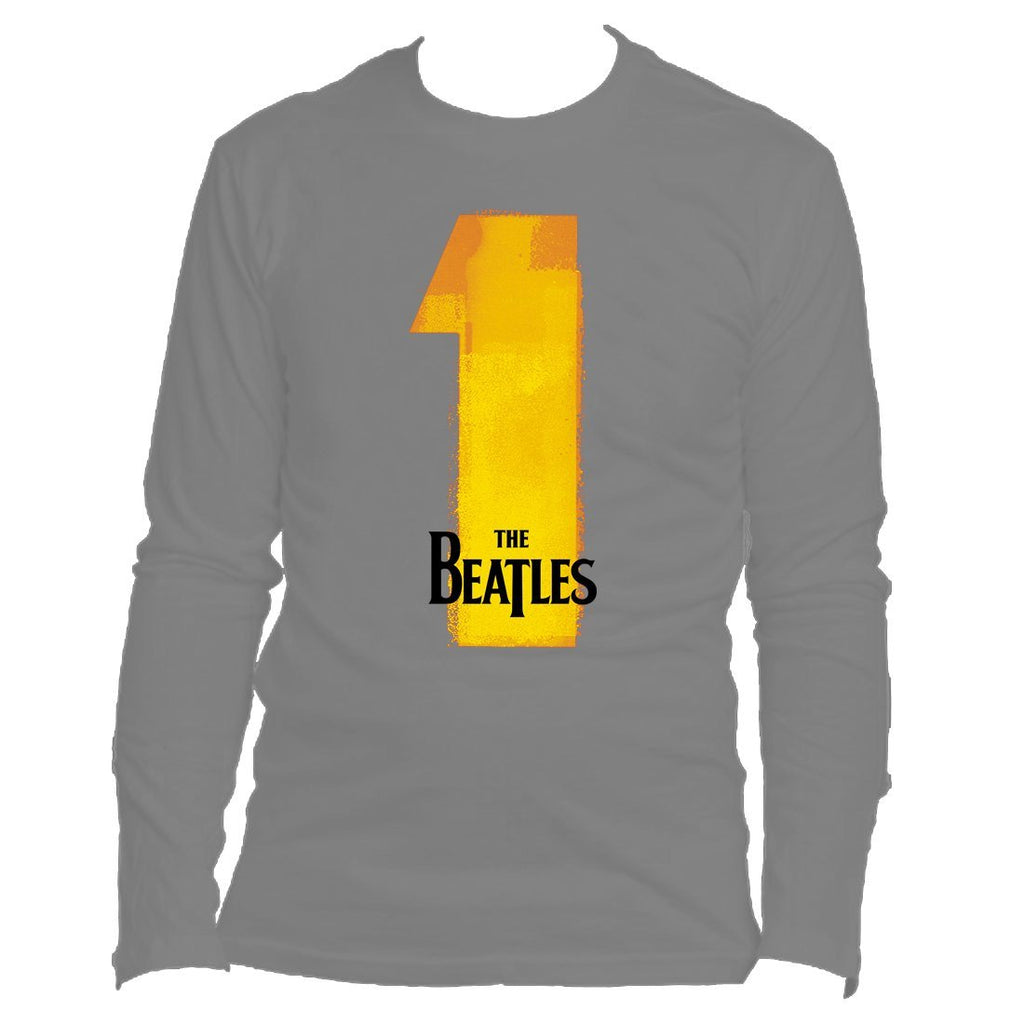 NUMBER ONES - MENS CHARCOAL LONG SLEEVE T-SHIRT