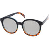 Round Oversize P3 Mirrored Lens Sunglasses A468