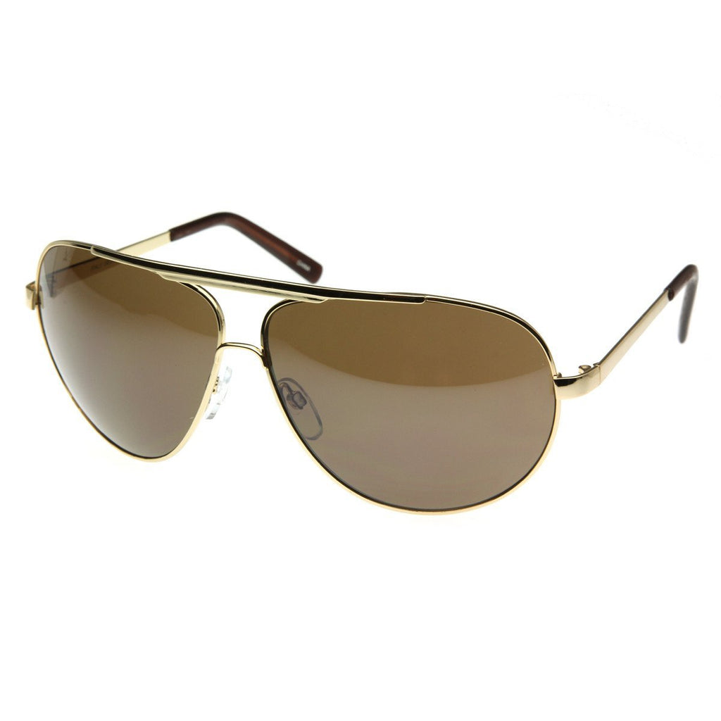 Extra Large Metal Oversize Frame Aviator Sunglasses 1580 70mm