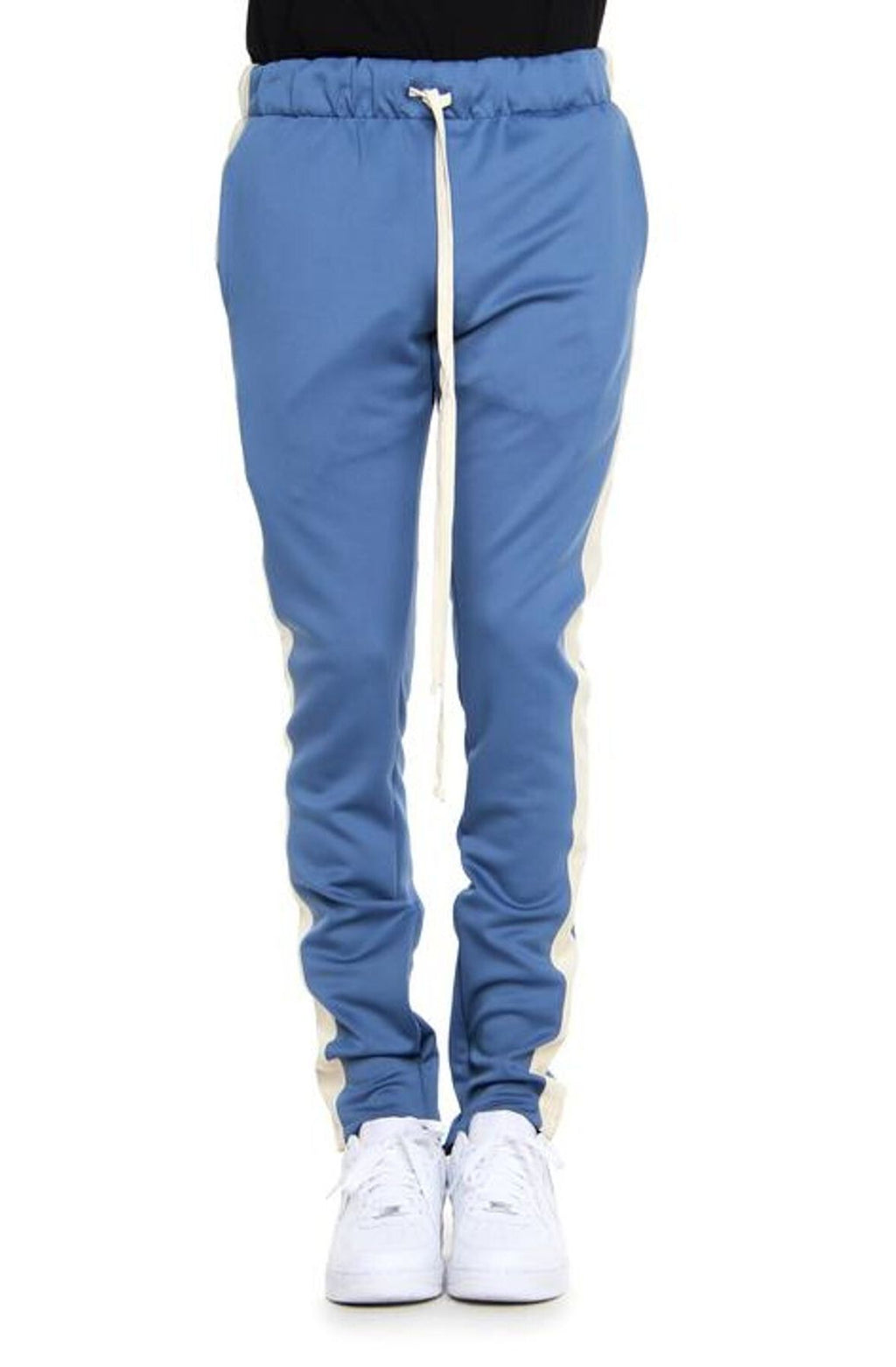 DENIM BLUE/CREAM-TRACK PANTS