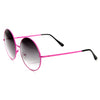 Womens Retro Oversize Metal Round Circle Sunglasses 8904