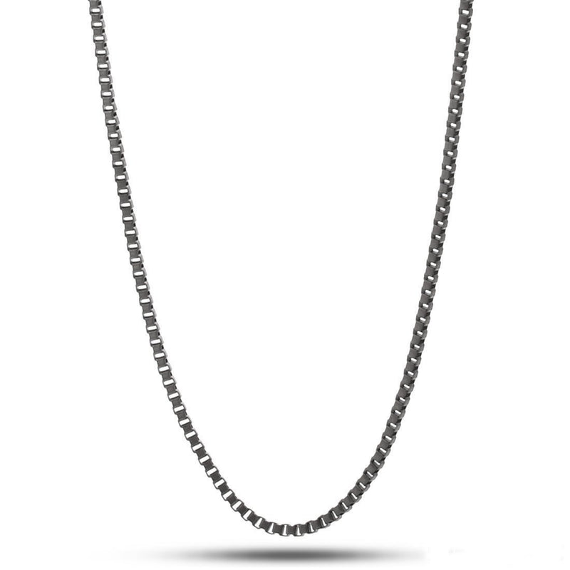 2mm  Hip Hop Style Black Box Chain