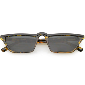 Retro Low Temple 1990's Flat Top Cat Eye Sunglasses C707
