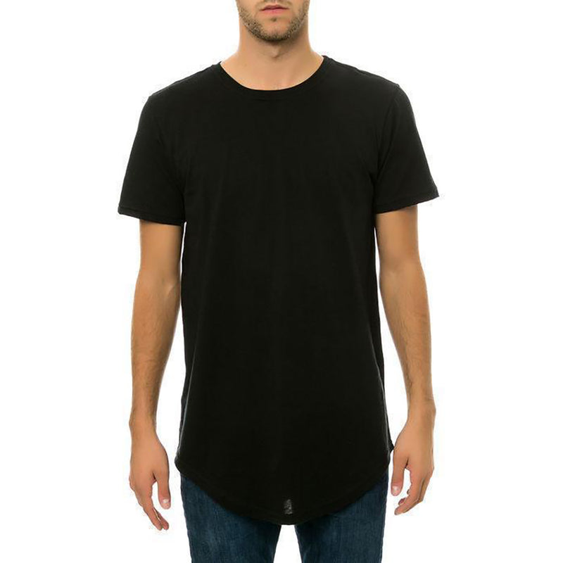 CB Tall Scallop Bottom Tee (Black)