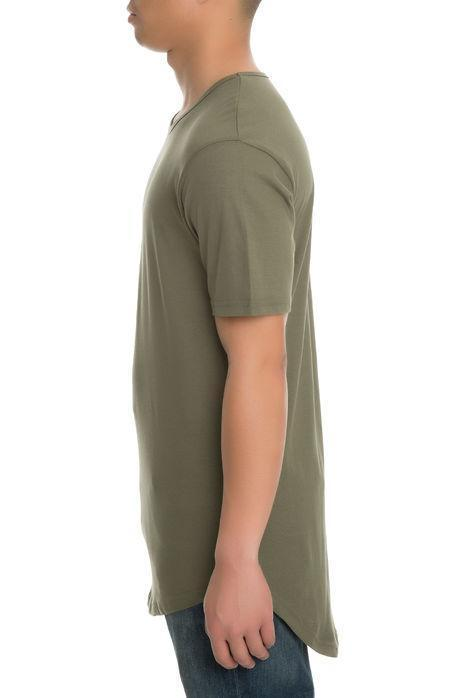 CB Tall Scallop Bottom Tee (Olive)