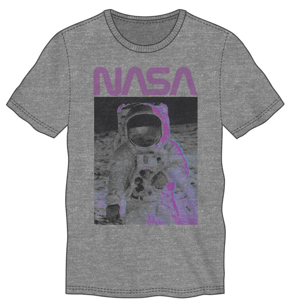 NASA Astronaut Walk On The Moon Men's Gray T-Shirt Tee Shirt