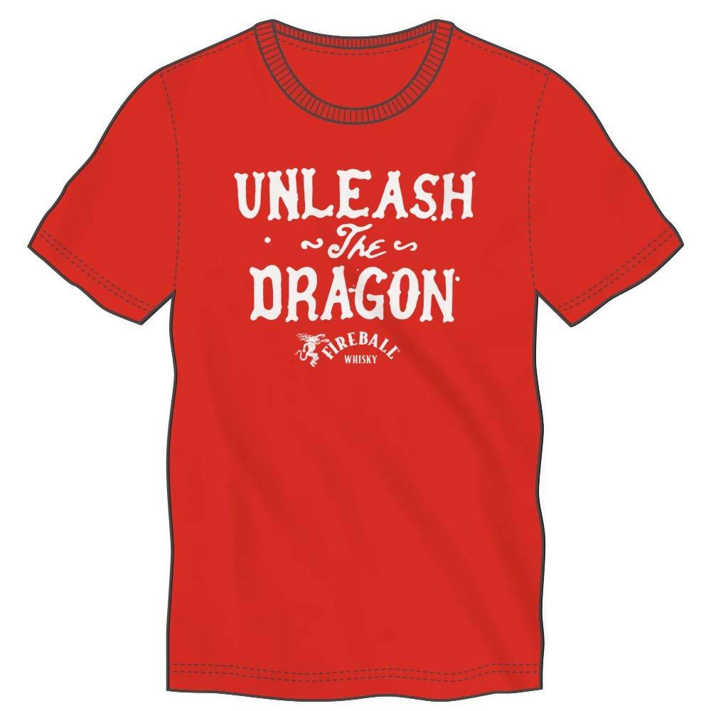 Unleash The Dragon Fireball Whisky Men's Red T-Shirt