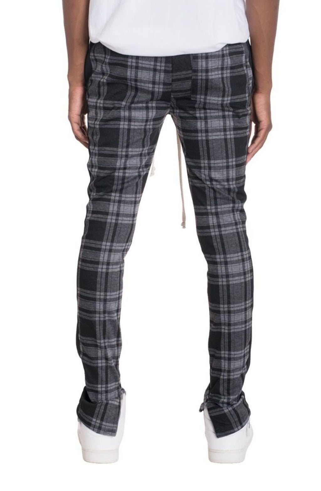 Eugenes Plaid Track Pants // Grey/Black