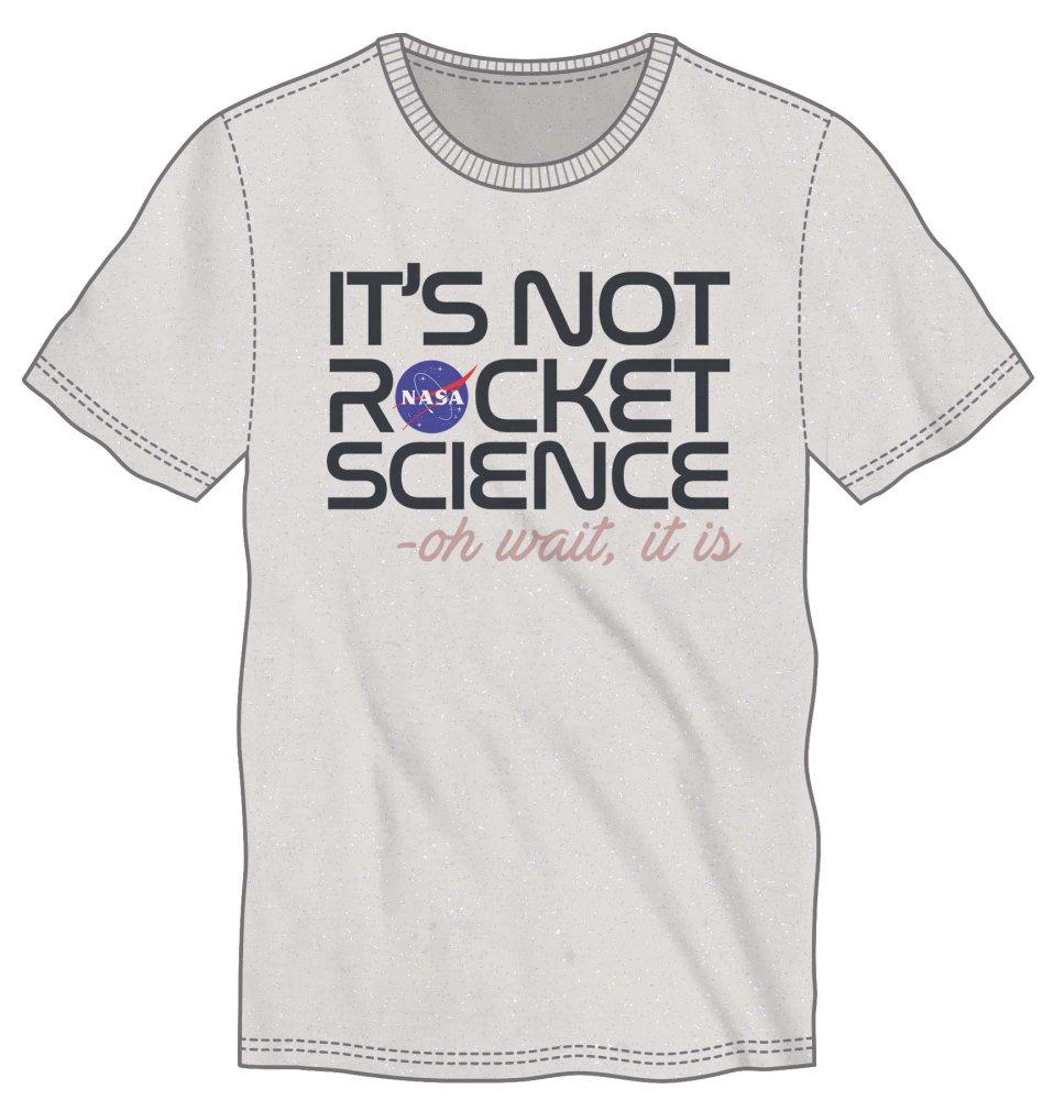 NASA It's Not Rocket Science Men's White Tee Shirt T-Shirt