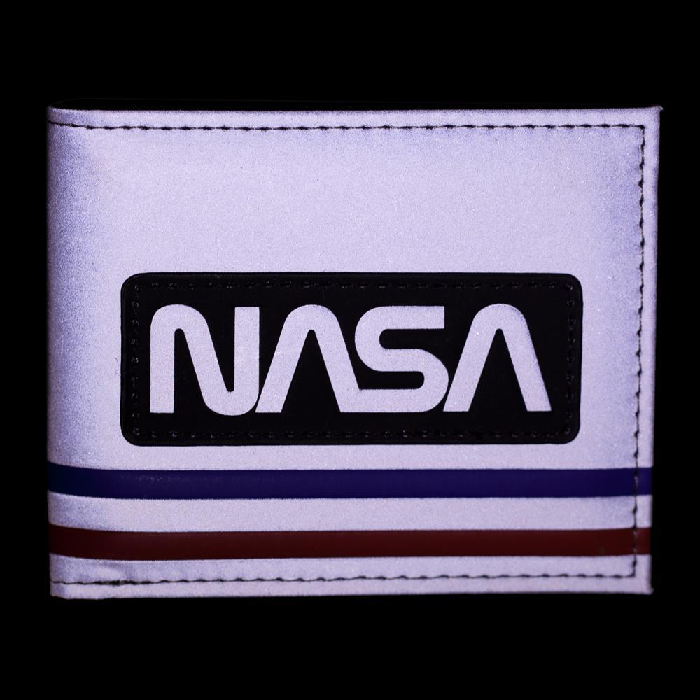 NASA Wallet BiFold Wallet NASA Accessory - Metallic Wallet NASA Gift