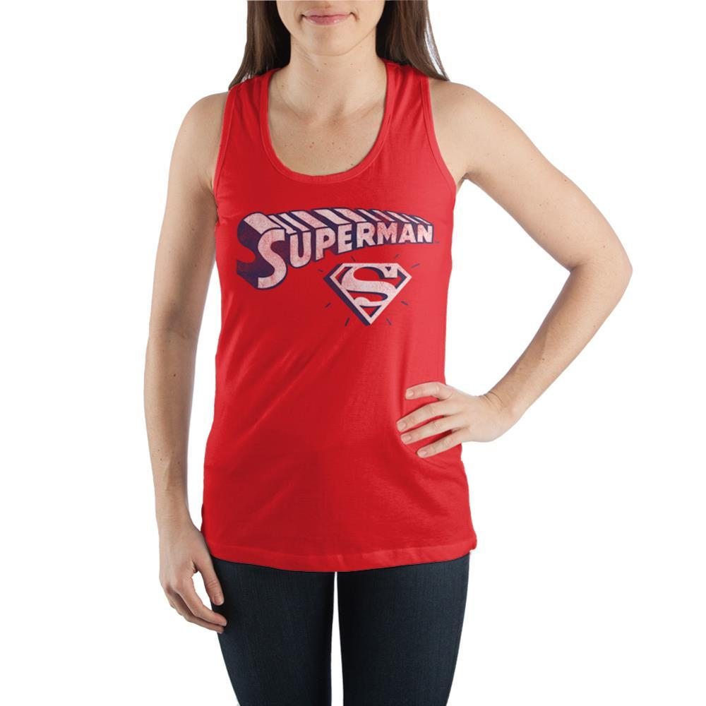 Superman Juniors Graphic Tank Top