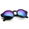 Retro Flash Mirrored Lens Keyhole Round Sunglasses 9312