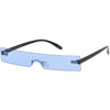 Retro 1990's Futuristic Eye Scanner Flat Color Tone Lens Sunglasses C950