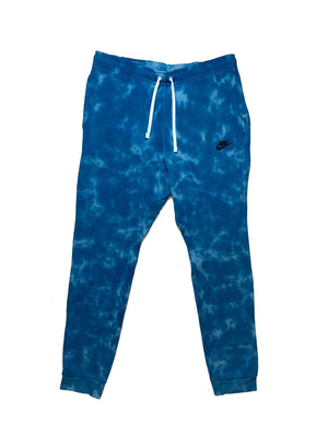 "Nike X Jeffersons Custom Tonal Tie Dye Washed Jogger Sweatpant ""OCEAN BLUE"""