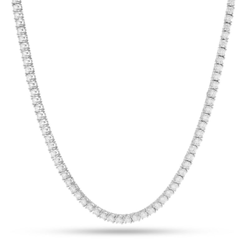 3mm White Gold .925 Sterling Silver CZ Tennis Chain