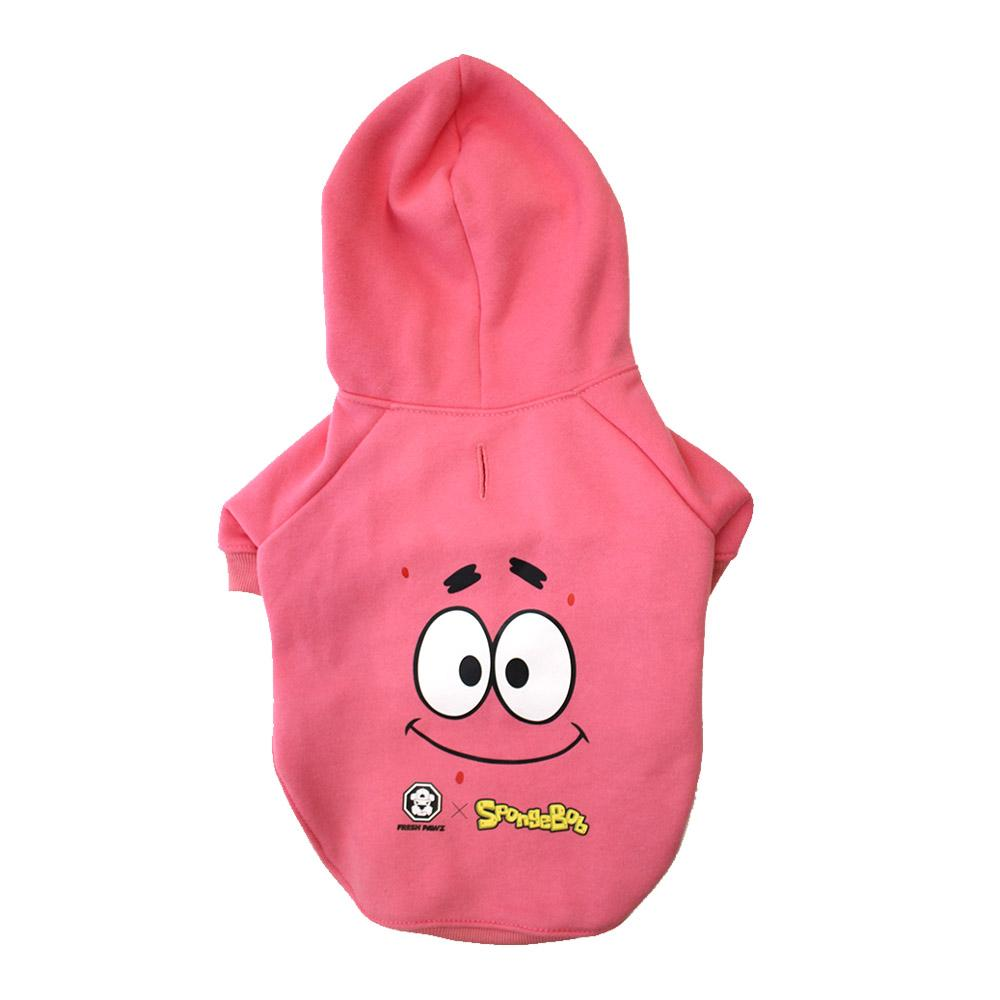 Spongebob x Fresh Pawz - Patrick Face Hoodie | Dog Clothing