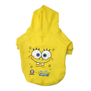 Spongebob x Fresh Pawz - SB Face Hoodie| Dog Clothing