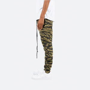 Cargo Drawcord Pants - Tiger Camo