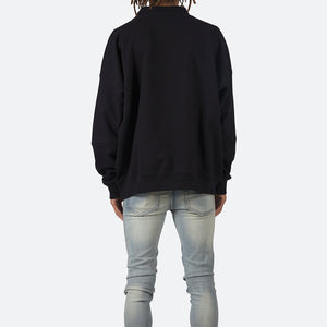 Collared Crewneck - Black
