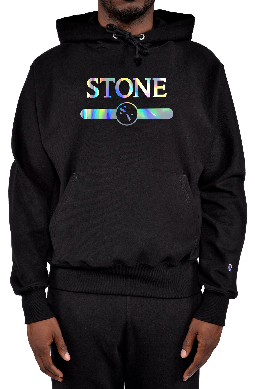 StoneVale Holographic Banded Stone Champion Hoodie