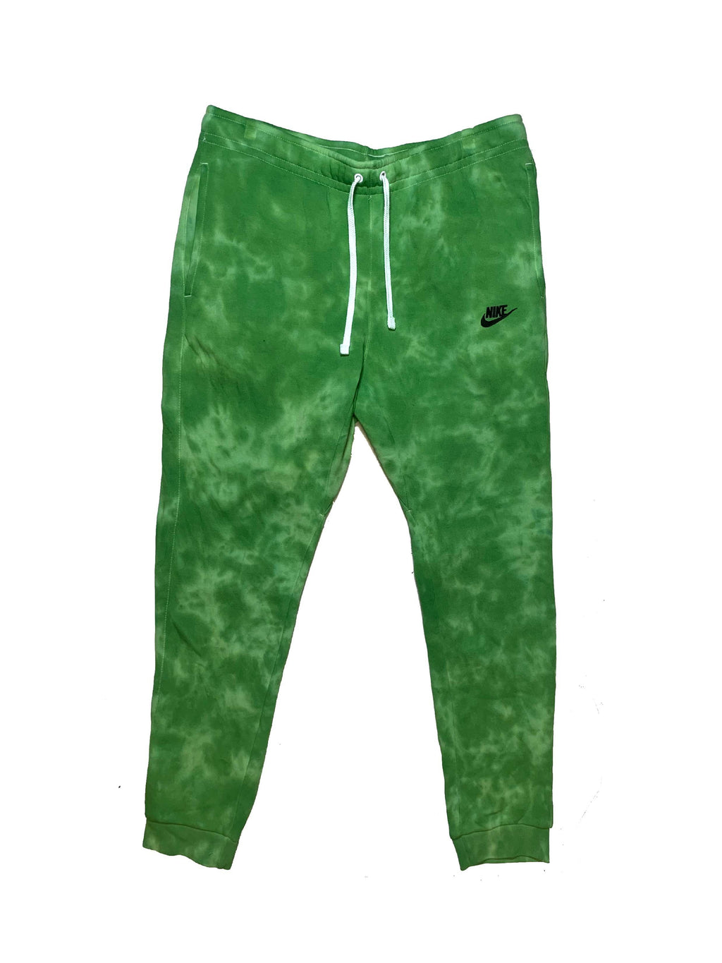 "Nike X Jeffersons Custom Tonal Tie Dye Washed Jogger Sweatpant ""SLIME GREEN"""