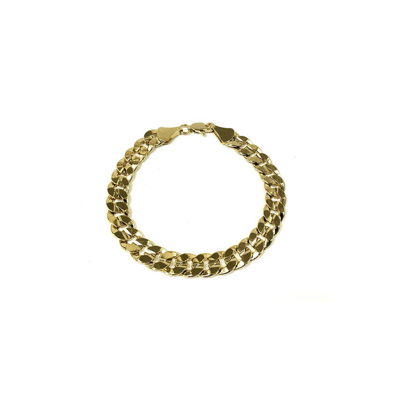 14k Gold Plated Thick Curb Chain Bracelet