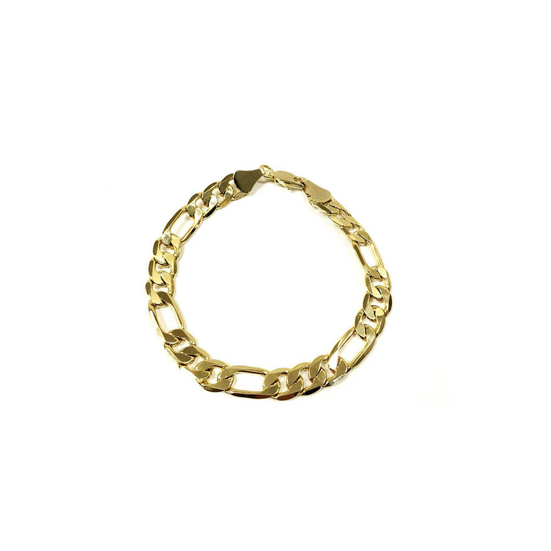 14k Gold Plated Thick Figaro Chain Bracelet