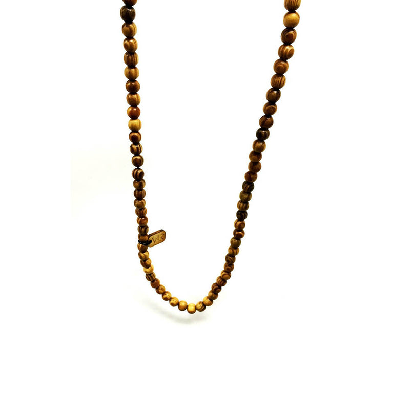 Tiger wood beaded necklace