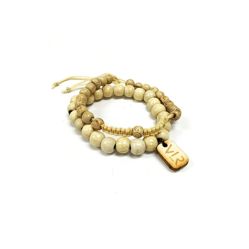 Beige wood and rosary
