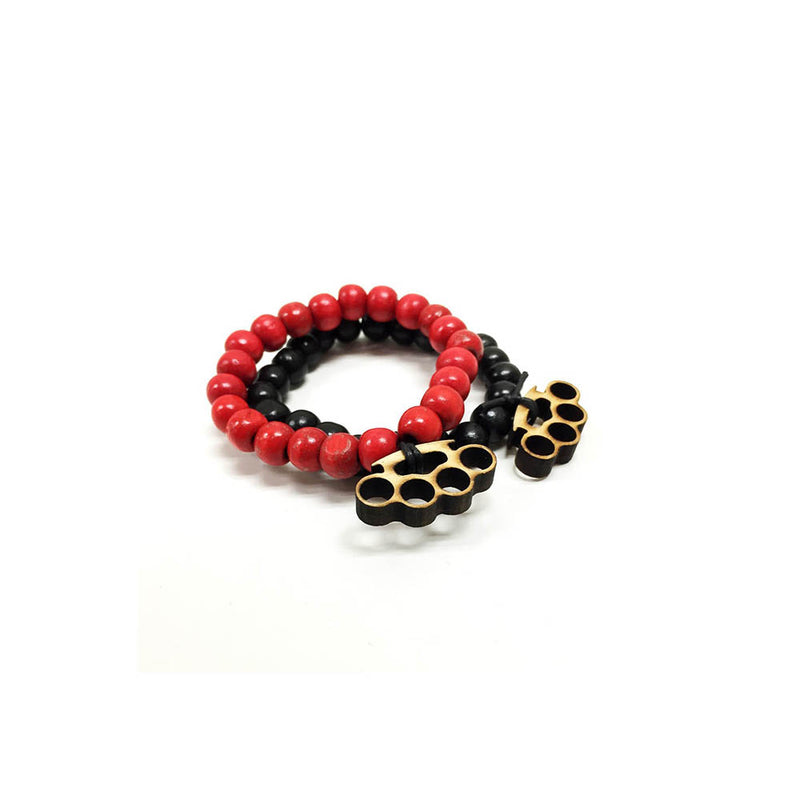 Brass Knuckles 2 pack in black and red