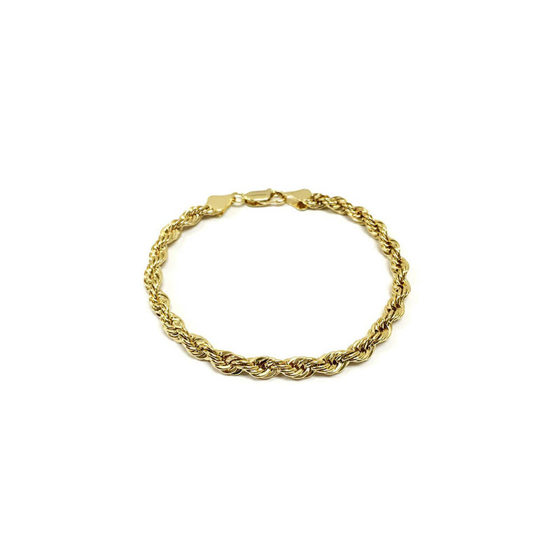 14k gold plated rope chain bracelet