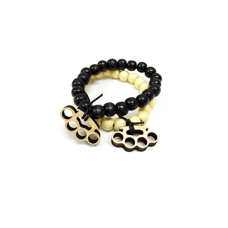 Brass knuckles 2 pack in white and black