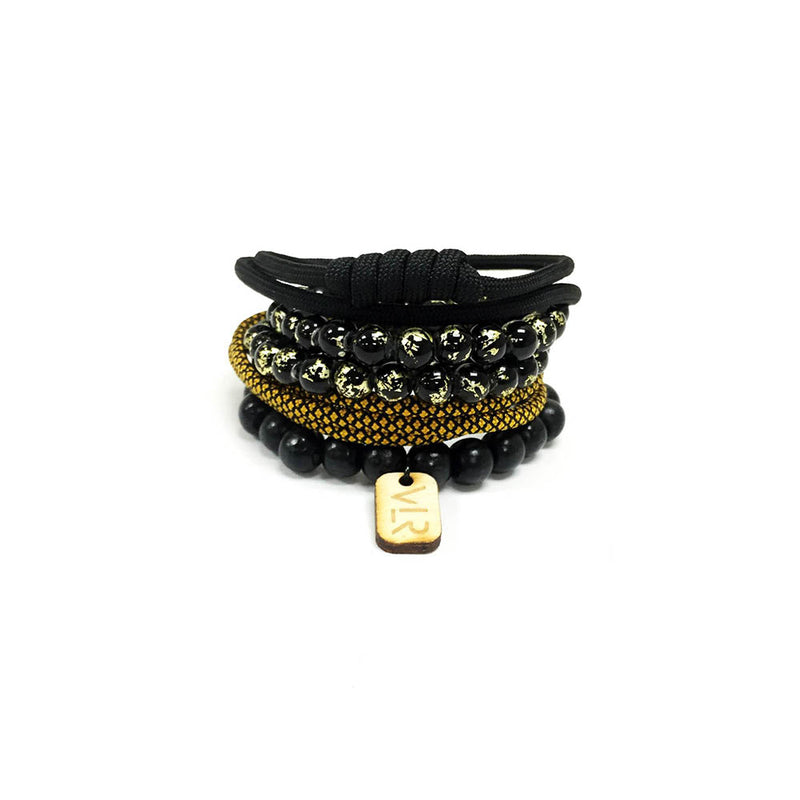 Diamond variety 4 pack in Black and Gold