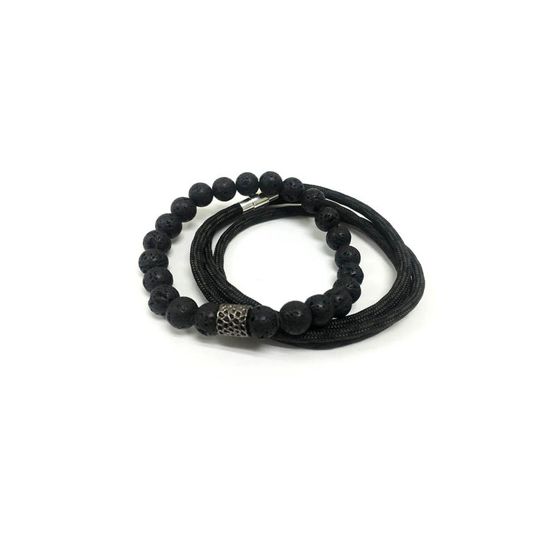 Elite Bracelet Set // Lava Rock