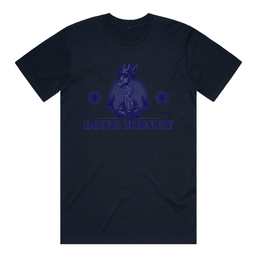 Long Money- Navy Tee