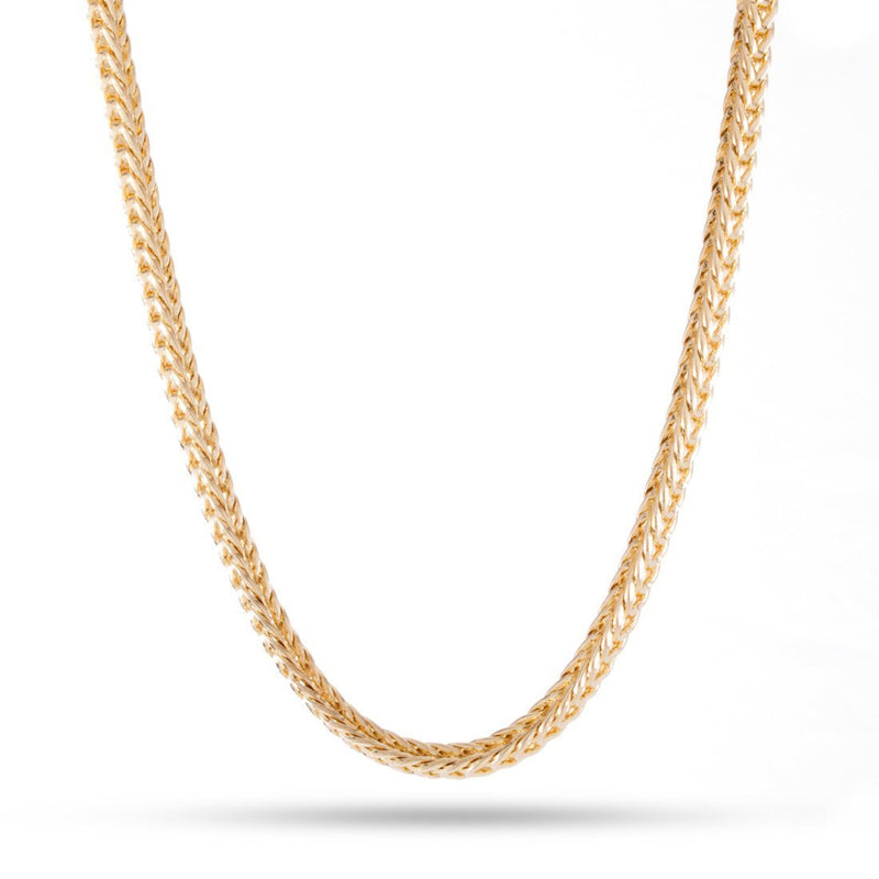 4mm, 14K Yellow Gold Plated Franco Chain