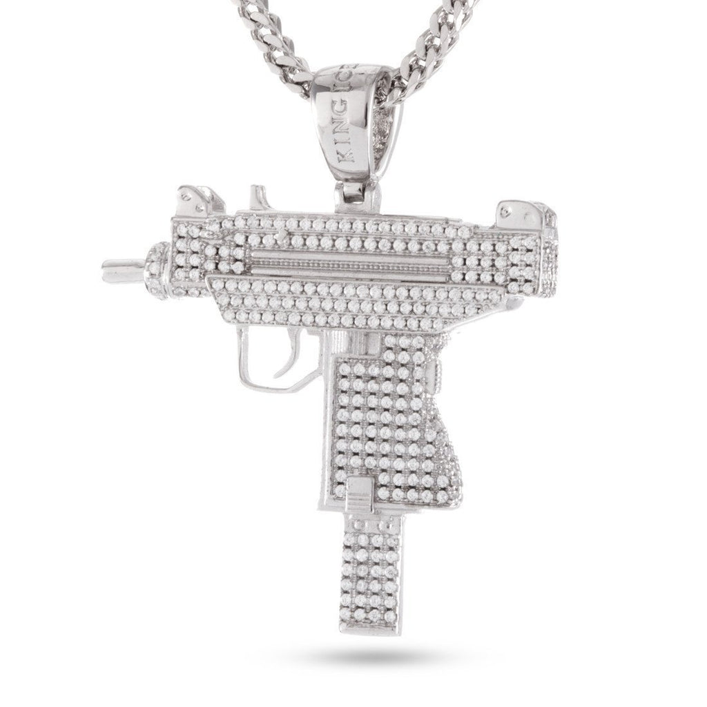 White Gold Uzi Necklace