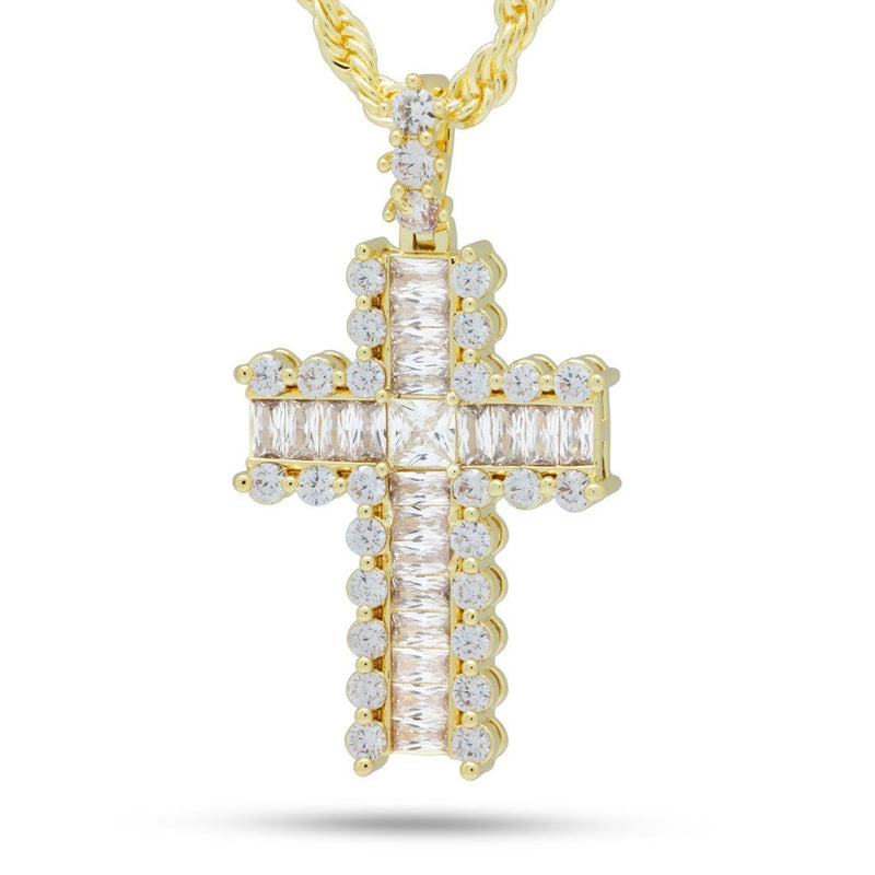 The Small Icy Cross Necklace