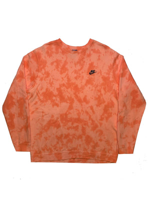 "Nike X Jeffersons Custom Tonal Tie Dye Washed Crewneck ""PEACH"""