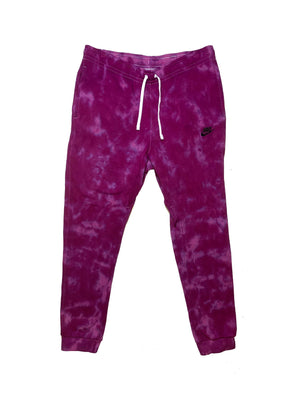 "Nike X Jeffersons Custom Tonal Tie Dye Washed Jogger Sweatpant ""PURPLE HAZE"""