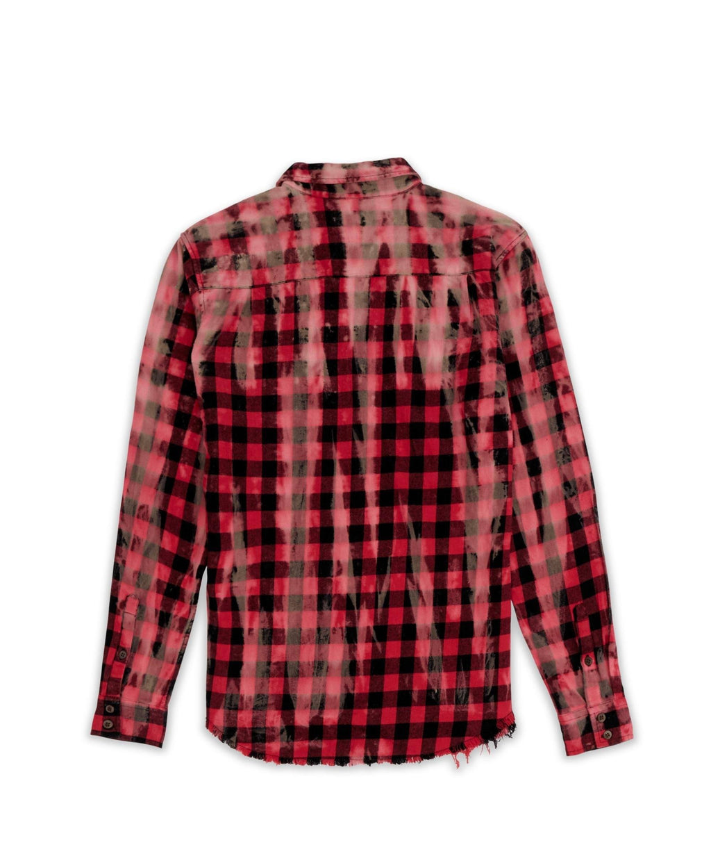 ASPHALT FLANNEL - RED/BLACK