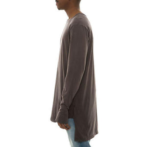 Packs Long Sleeve High-Low Tall Tee (Charcoal)