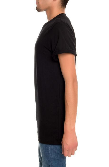Rolled Cuff Jersey Tee (Black)