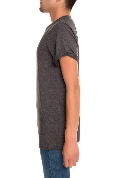 Rolled Cuff Jersey Tee (Charcoal)