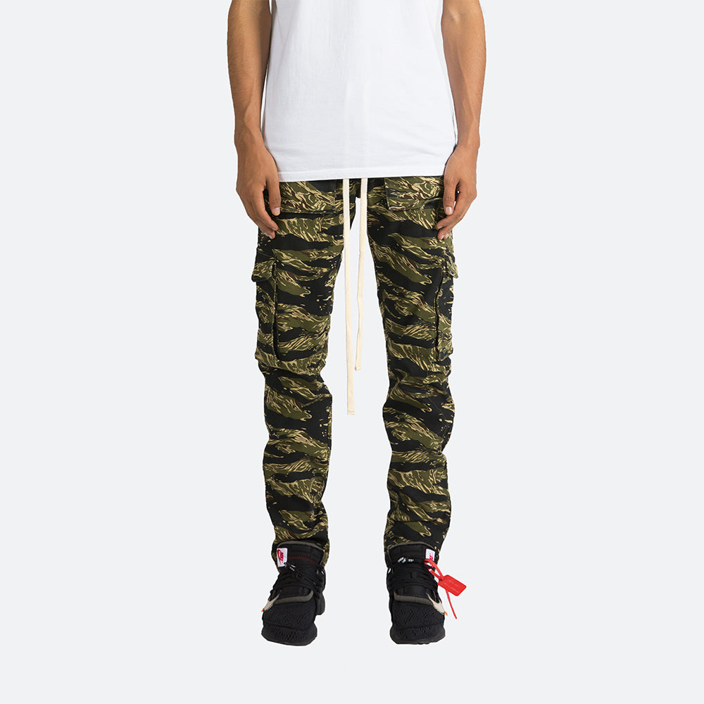 Snap Cargo Pants - Tiger Camo