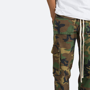 Snap Cargo Pants - Woodland Camo