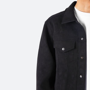 Suede Trucker - Black