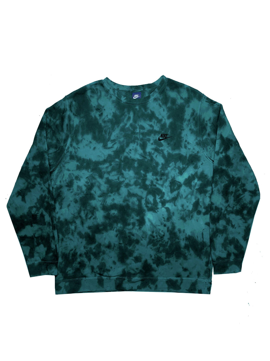 "Nike X Jeffersons Custom Tonal Tie Dye Washed Crewneck ""TEAL"""